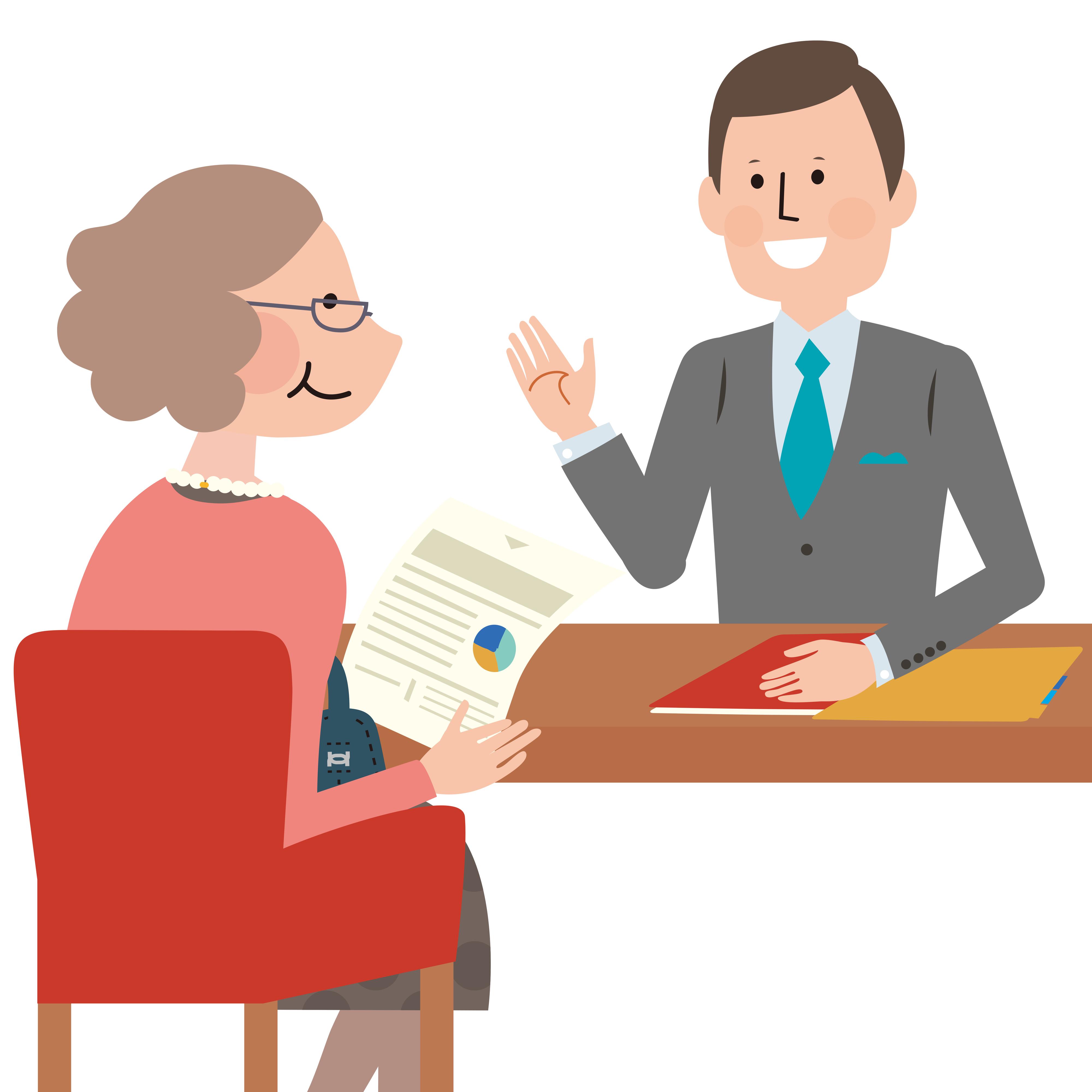 融資について相談する人