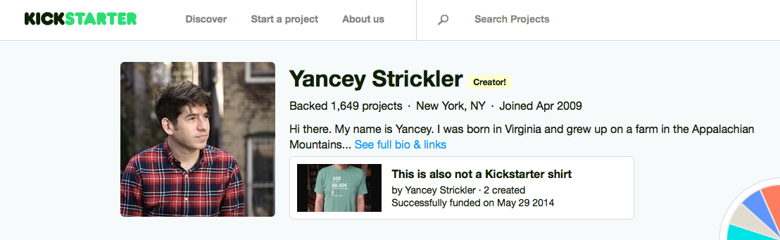 Yancey Strickler (ヤンシー・ストリックラー)