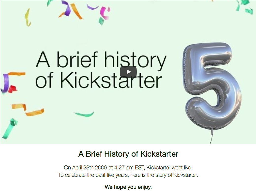 A brief history of Kickstarter