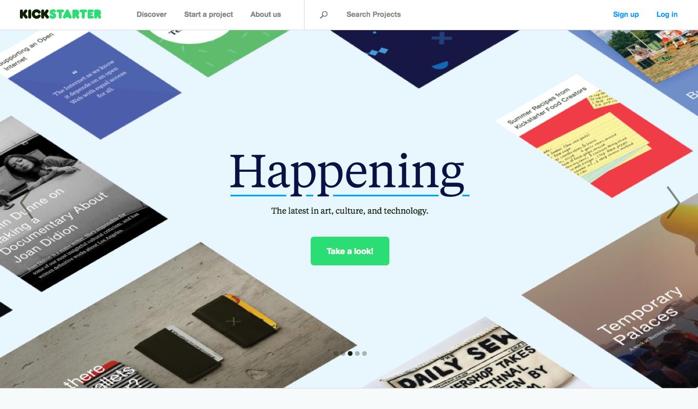 Kickstarter(キックスターター)公式サイト