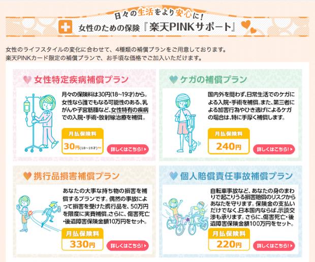 楽天PINKカード(カスタマイズサービス)