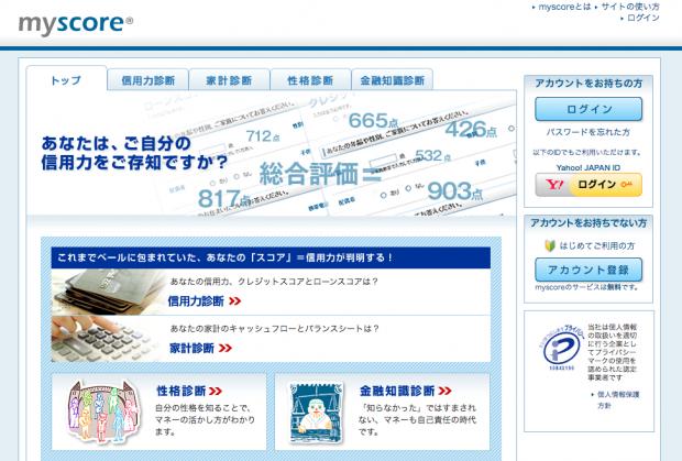 クレジットスコアリング(信用力調査)myscore