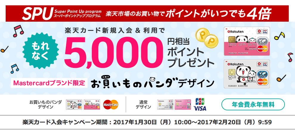 楽天カード『お買いものパンダ』デザイン