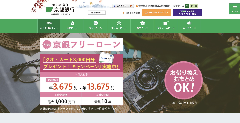京都銀行 フリーローン