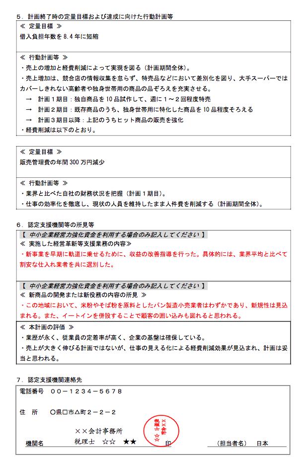 日本政策金融公庫「事業計画書」記入例