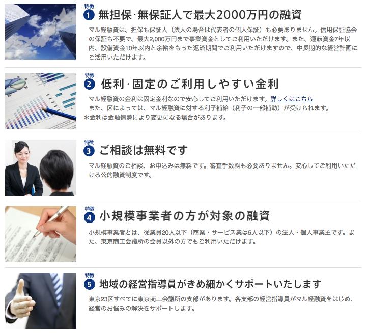 マル経融資(東京商工会議所)