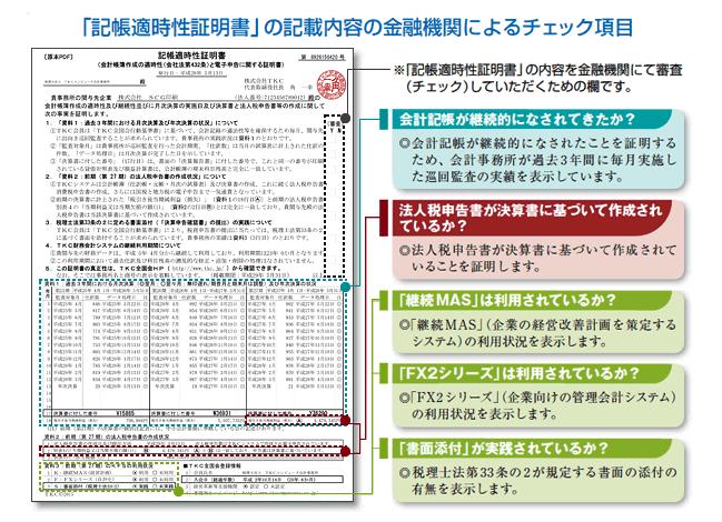 決算書の信頼性を証明する「記帳適時性証明書」