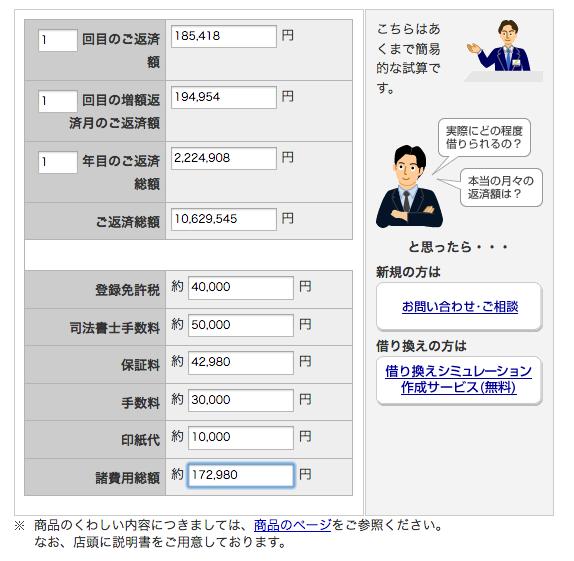 三井住友銀行(利息計算ツール)