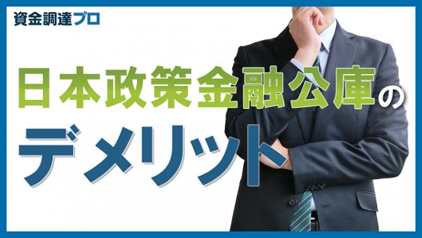 日本政策金融公庫のデメリット