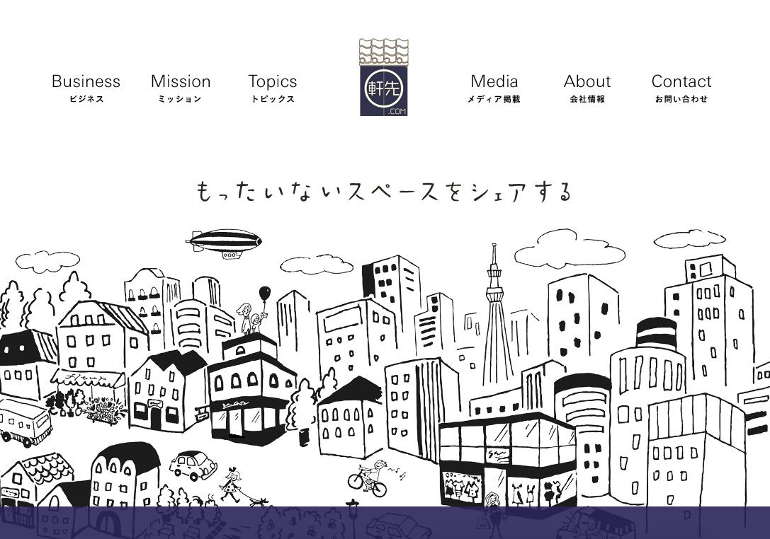 軒先.com(空き部屋、スペースの情報サイト)