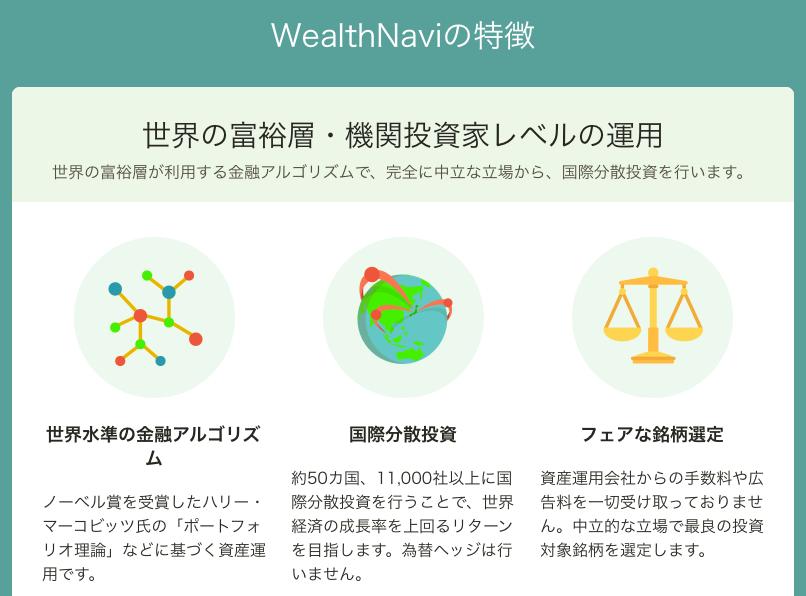 WealthNavi公式サイト