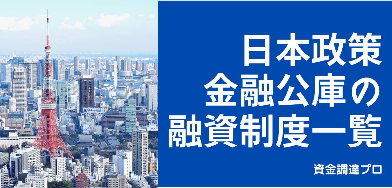 日本政策金融公庫, 起業融資, 創業融資