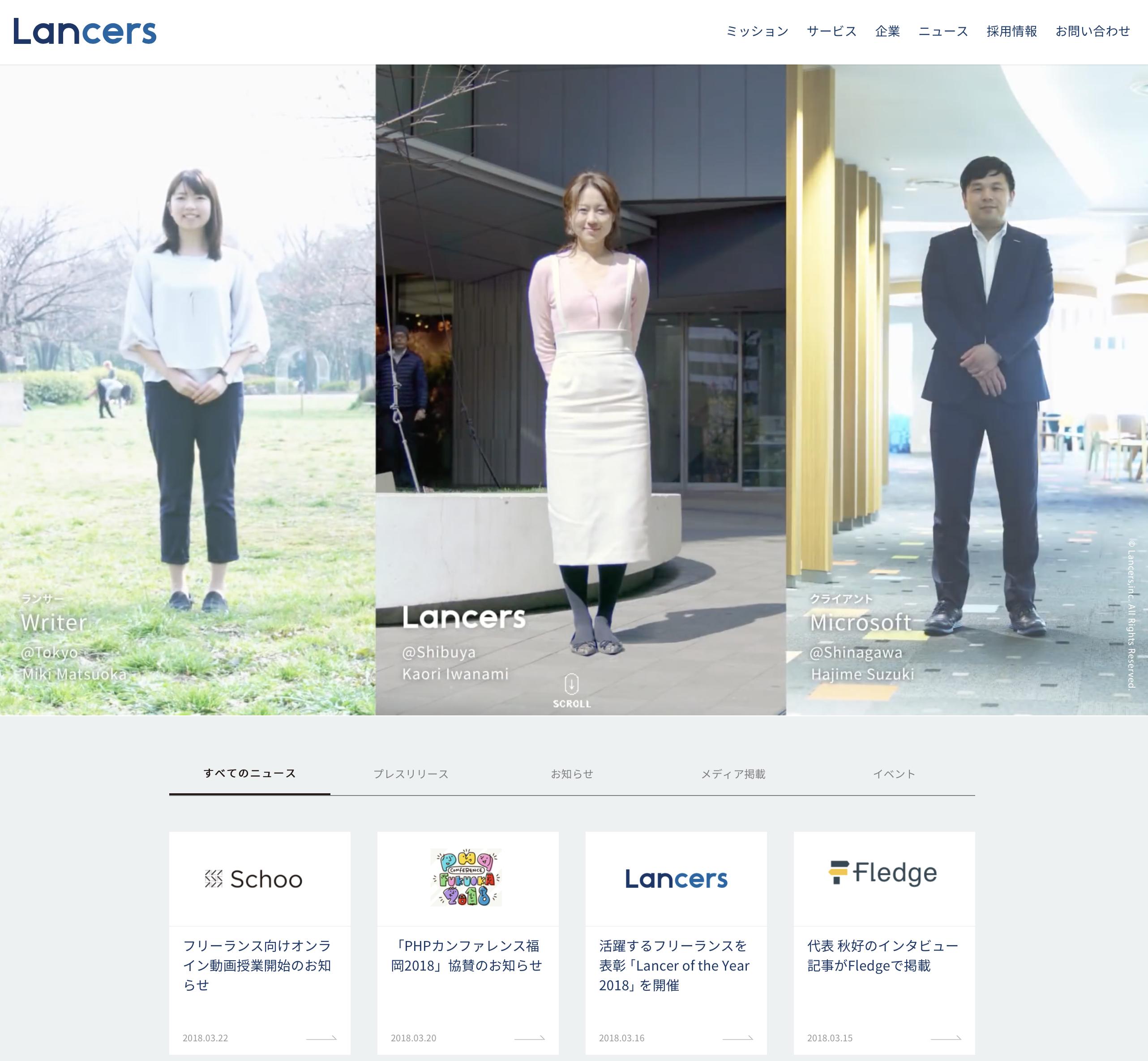 ランサーズ株式会社 ( LANCERS,INC. )