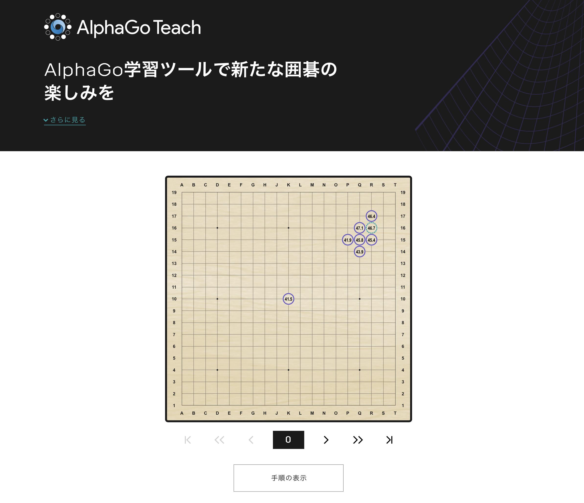 AIを用いたAlphaGo Teach