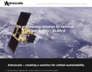 ASTROSCALE PTE. LTD.のトップページ