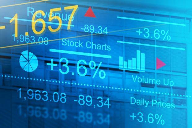 株式の価格変動表示