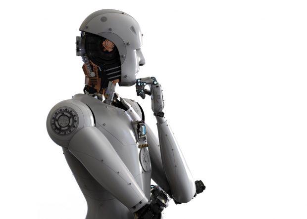 考え込むロボット