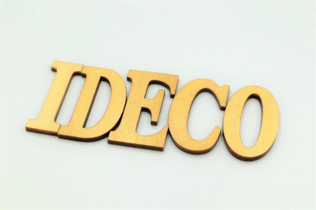 木製の文字で作られたIDECO