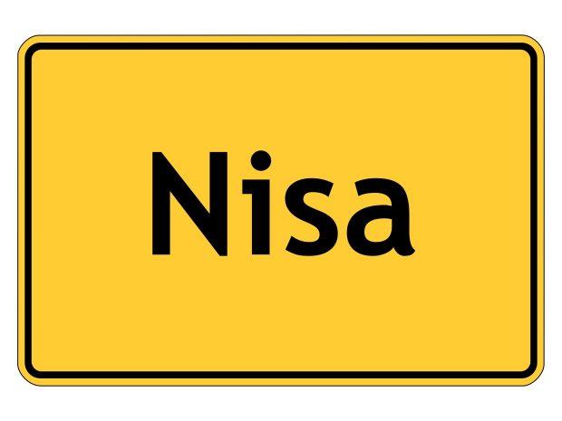 NISAの黄色い標識