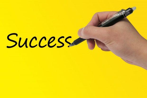 成功の秘訣を書く
