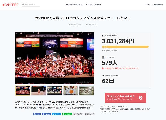 世界大会で入賞して日本のタップダンスをメジャーにしたい!