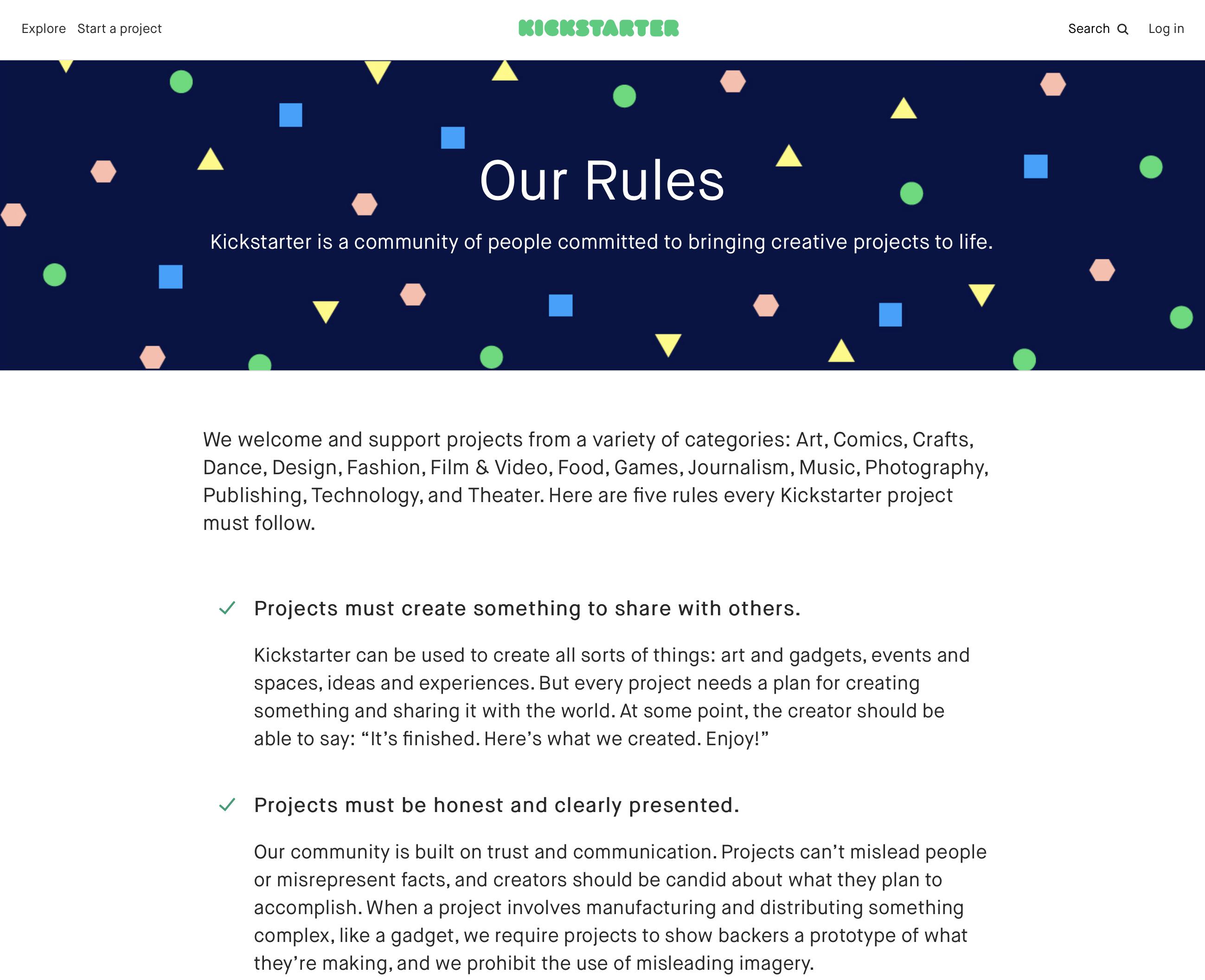 Our Rules|Kickstarter
