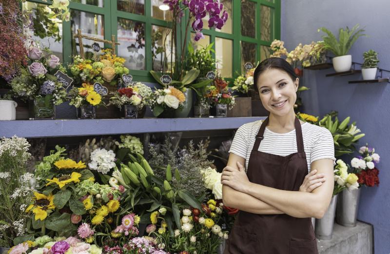 花屋の女性店員