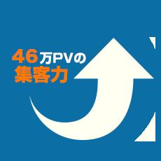 46万PVの集客力