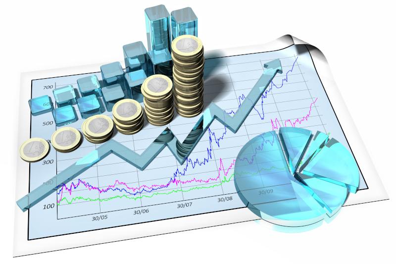 事業が成長する様子のグラフ