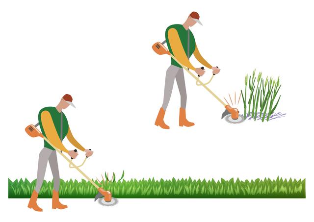 草刈りで稼ぐ