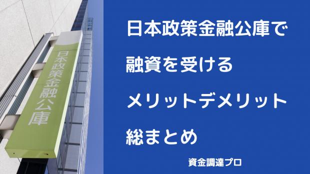 日本政策金融公庫融資メリット, 日本政策金融公庫融資デメリット